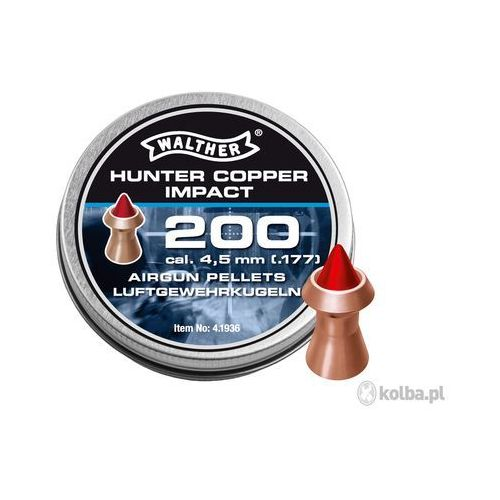 Walther Śrut diabolo  hunter copper impact 4,5 mm 200 szt.