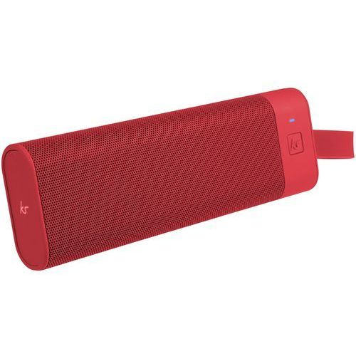 Kitsound boombar uniwersalny ergonomiczne doładowanie ze źródeł stereo bluetooth wireless sound system czerwony (5054480611886)