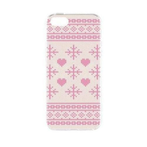 Etui FLAVR Case Ugly Xmas Sweater do Apple iPhone 5/5s/SE Różowy (27417), kolor różowy