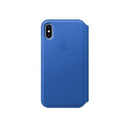 iphone x leather folio - electric blue mrge2zm/a >> bogata oferta - szybka wysyłka - promocje - darmowy transport od 99 zł! marki Apple