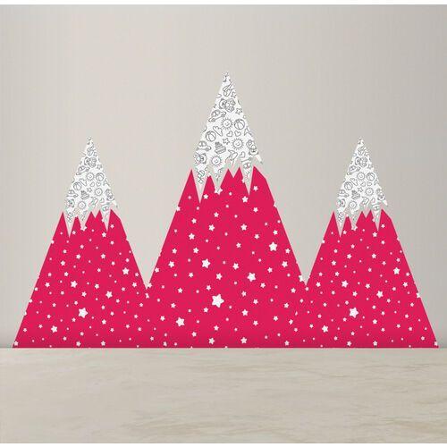 Naklejki na ścianę Słodkie Różowe Góry