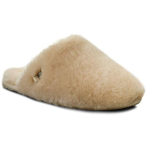 Kapcie UGG - W Fluff Clog 1005564 W/Nat