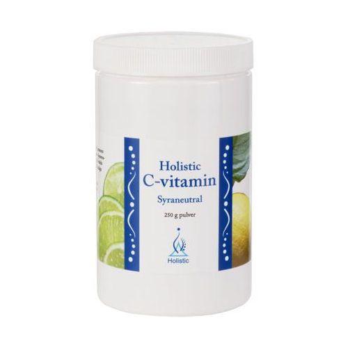 Lewoskrętna Witamina C w proszku buforowana neutralnie pH7 askorbinian magnezu Holistic 250g (lek witaminy i minerały)