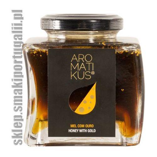 Miód z rozmarynu, kasztanowca i wrzosu z płatkami złota 250g marki Aromatikus
