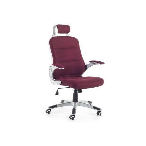 Krzesło biurowe bordowe - fotel biurowy - obrotowy - siatka - PREMIER (7081455276205)
