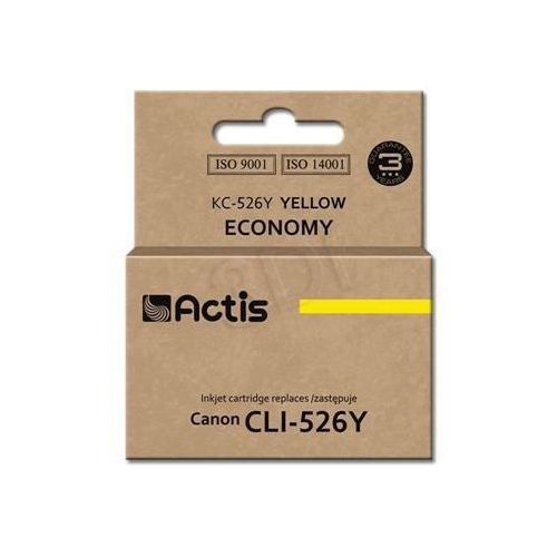 Actis Tusz  kc-526y (do drukarki canon, zamiennik cli-526y standard 10ml yellow chip)