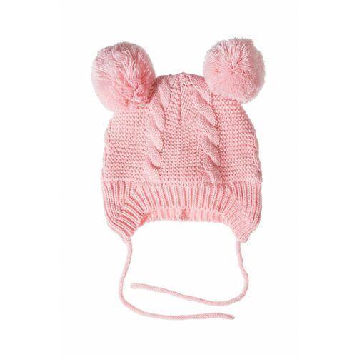 Czapka niemowlęca zimowa- wiązana 5x3531 marki 5.10.15.