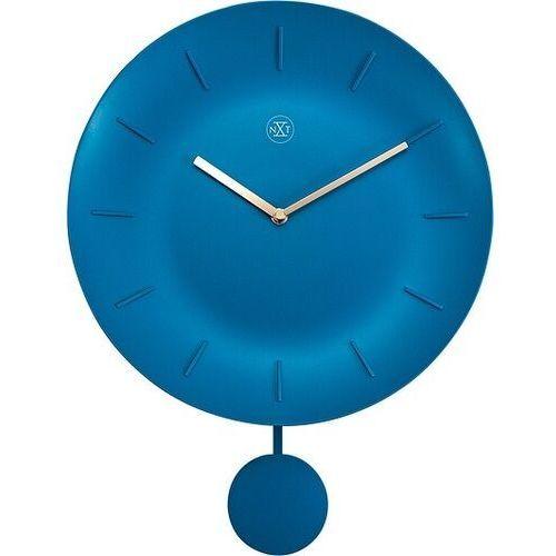 Nextime Zegar ścienny z wahadłem bowl turkusowy nxt 30 cm (7339 tq)