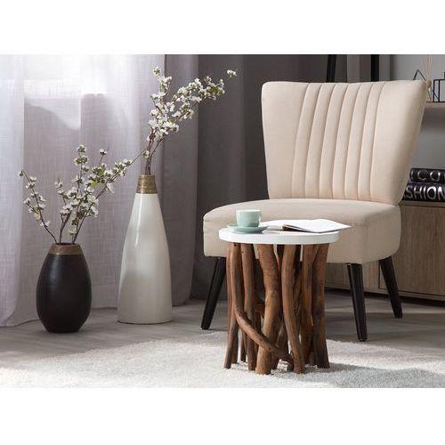 Beliani Stolik kawowy biały - ława - kawowa - stół - houma (4260586350128)