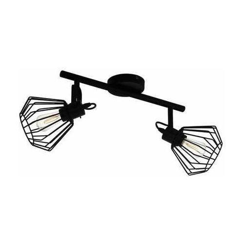 Eglo Tabillano 98763 plafon lampa sufitowa spot 2x40W E27 czarny