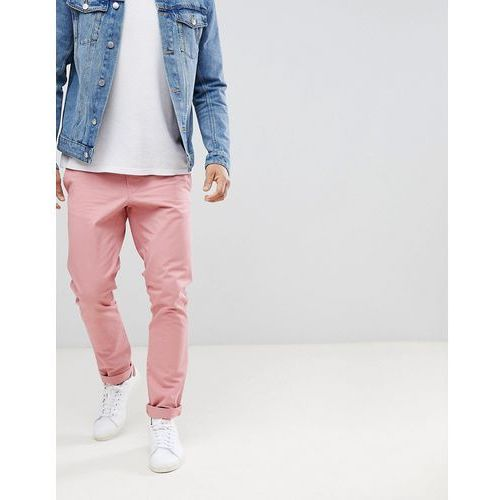 slim fit chinos in pink - pink, United colors of benetton