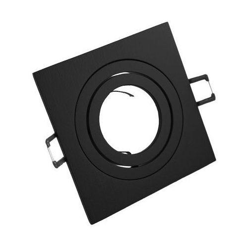 Ledart Oprawa sufitowa aluminium kwadrat ruchoma czarny matowy