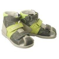 Bartek 81792 831 szaro-zielony, obuwie profilaktyczne dziecięce, rozmiary 21-26