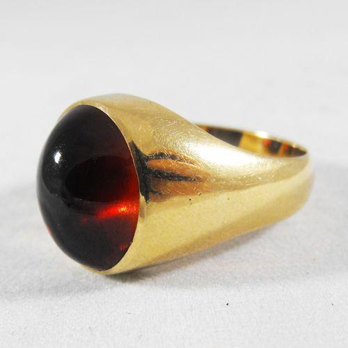 Złoty sygnet P1205, kolor żółty