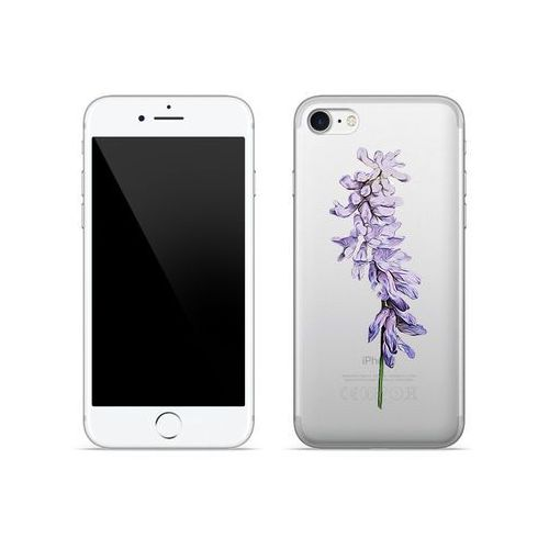 Apple iPhone 8 - etui na telefon Crystal Design - Fioletowy kwiat