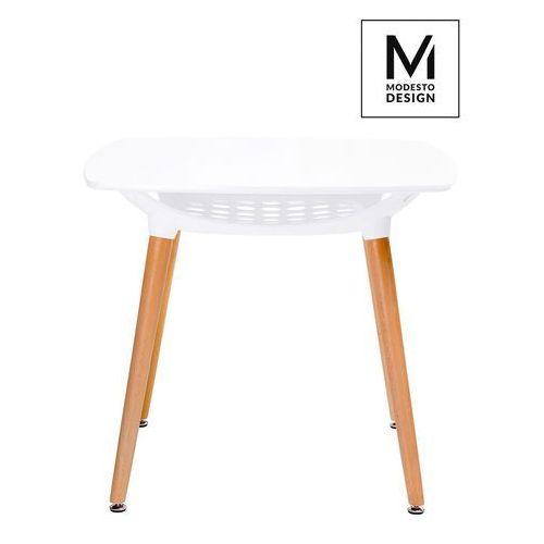 Modesto stół hide square biały - blat mdf, podstawa drewniana marki Modesto design