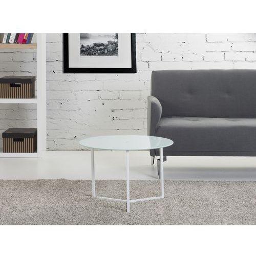 Nowoczesny stolik kawowy biały 60x40 cm - ława - stół - TRIBECA