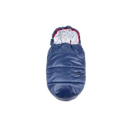 Śpiworek do wózka ( kolor: denim/osty) - 110x53 cm - marki Poofi