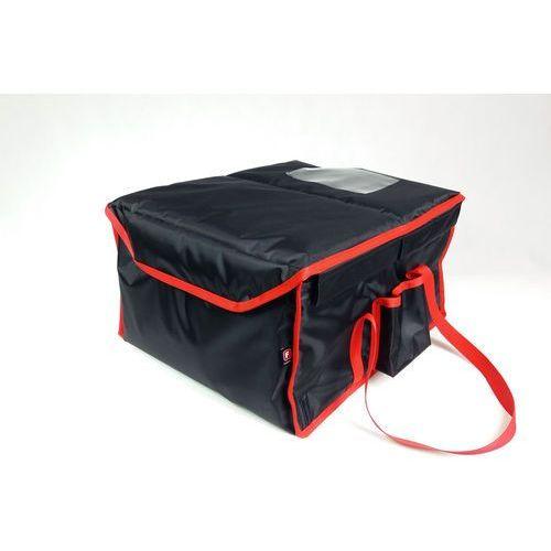 Furmis Podgrzewana torba wykonana z nylonu na 12 opakowań o wymiarach 200x250 mm, czarna z czerwoną lamówką   , lunchbox-12 p
