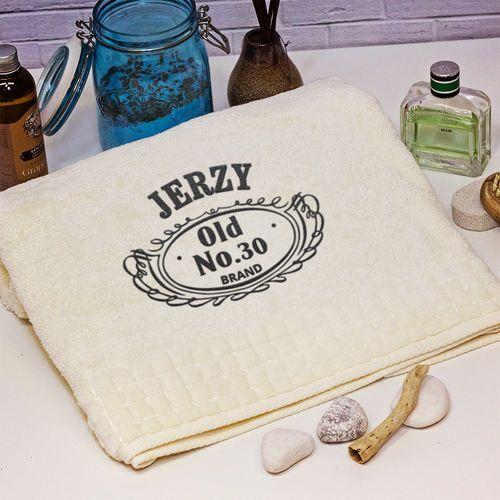 Mygiftdna Old no. - ręcznik z haftem - ręcznik