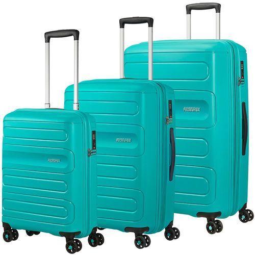 American Tourister Sunside zestaw walizek / komplet / walizki na 4 kółkach / turkusowy - Aero Turquoise