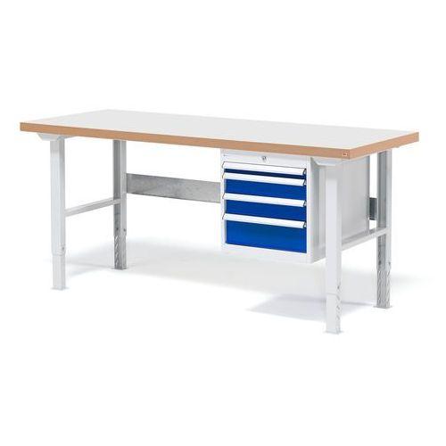 Stół warsztatowy z blatem o powierzchni laminowanej 800x500x1500mm