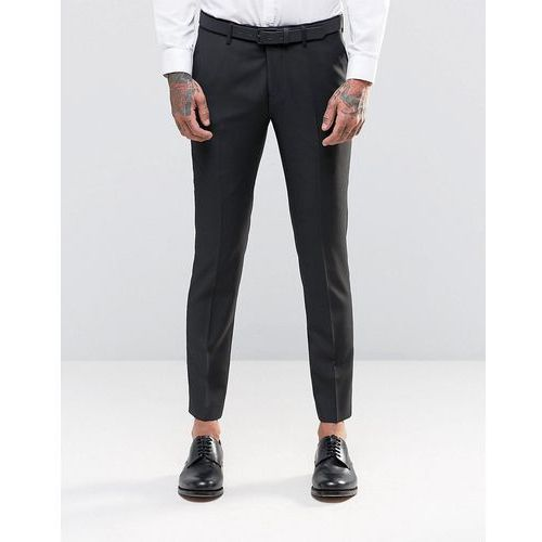 River Island Skinny Fit Wool Blend Suit Trousers In Khaki - Green ()