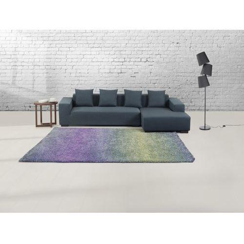 Beliani Dywan niebiesko-fioletowy - 160x230 cm - shaggy - poliester - soma, kategoria: dywany