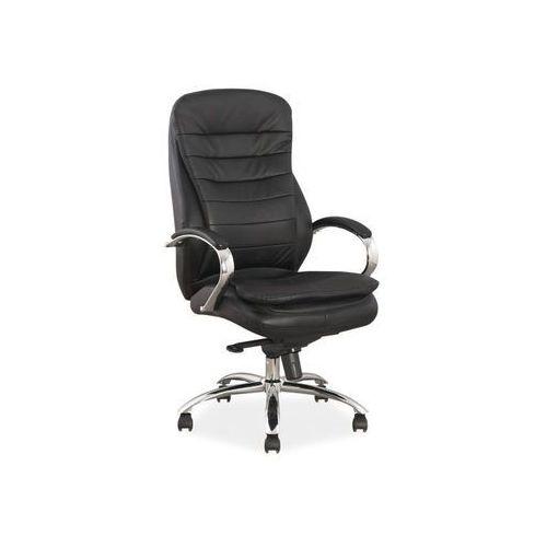 Fotel obrotowy, krzesło biurowe q-154 czarny, skóra marki Signal