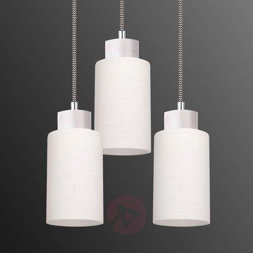 SPOT-LIGHT BOSCO Lampa wisząca Dąb bielony/Czarno-biały 3XE27-60W 1714532, kolor dąb