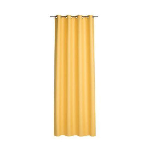 Inspire Zasłona gotowa blackout kolor żółty 140 x 260 cm kółka 265 g/m²
