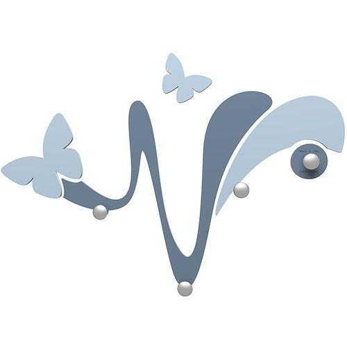 Wieszak ścienny dekoracyjny butterfly niebieski (50-13-1-44) marki Calleadesign