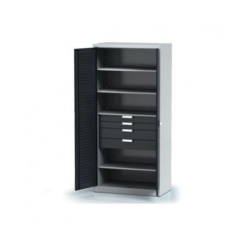 Alfa 3 Szafa warsztatowa - 4 półki, 4 szuflady