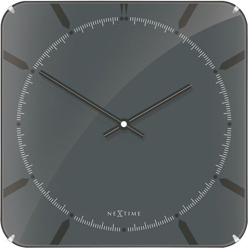 Zegar ścienny 3173 Michael Square Dome 35x35cm Nextime (8717713017448)