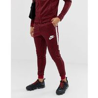 Nike gingham check joggers in red bq0676-618 - red