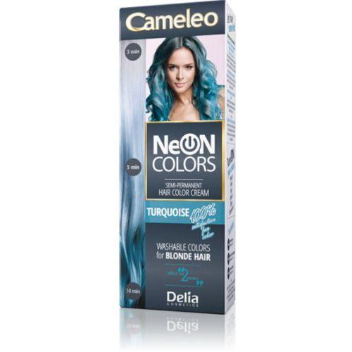 neon colors farba do włosów półtrwała turquoise marki Delia
