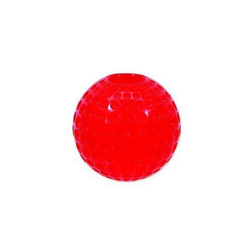 Zabawka DOG FANTASY Strong piłeczka gumowa z wgłębieniami czerwona 6,3 cm, 454-30307