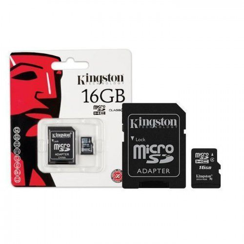 Karta Pam. Kingston Micro Sd Sdc4/ 16gb + Adap., 740617173741