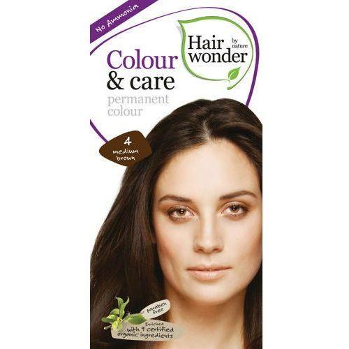 Hairwonder  colour & care farba do włosów 4-medium brown 100ml