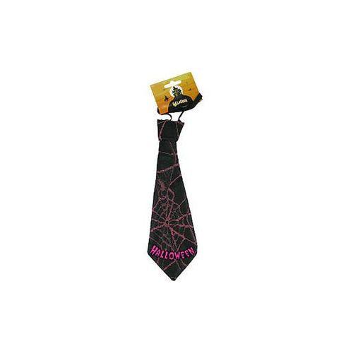 Krawat halloween w różowe pajęczyny marki Twojestroje.pl