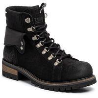 Trapery TOMMY JEANS - Suede Turn Collar Boot EM0EM00351 Black BDS, w 6 rozmiarach