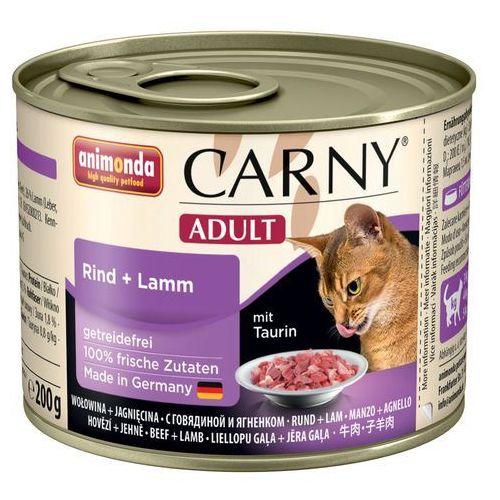 carny adult smak: wołowina, indyk i krewetki 24x200g marki Animonda