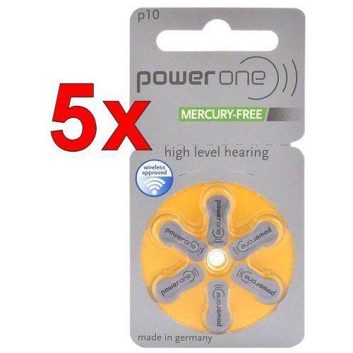 30 x baterie do aparatów słuchowych power one 10 mf marki Varta