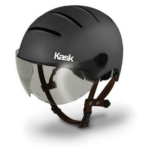 Kask lifestyle kask rowerowy dodatkowo wizjer szary/czarny 59-62 cm 2018 kaski miejskie i trekkingowe