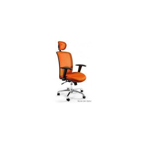 Krzesło biurowe expander pomarańczowe marki Unique meble