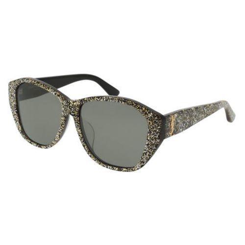 Okulary Słoneczne Saint Laurent SL M8/F Asian Fit 005