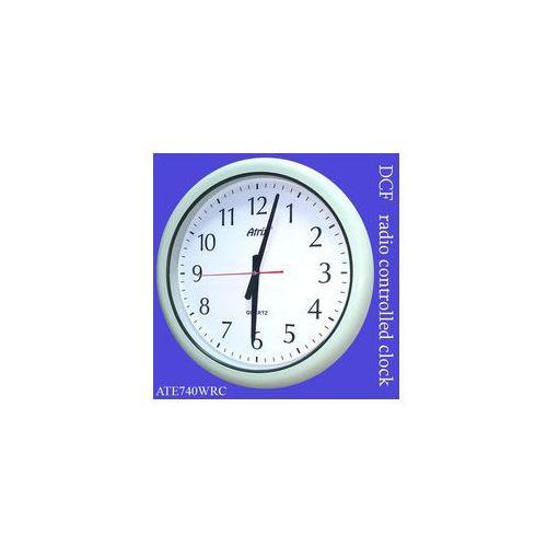 Zegar wodoszczelny biały sterowany radiowo 40cm, ATE740WRC