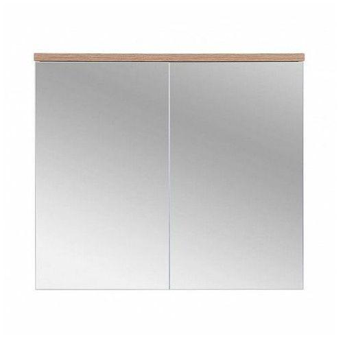 Szafka łazienkowa z lustrem Marsylia 6X 80 cm - Biały, kolor biały