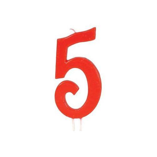 Świeczka cyferka 5 - 1 szt. marki Guirca