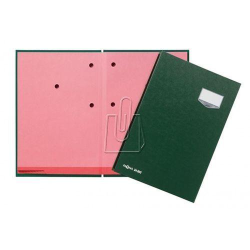 Teczka do podpisu Pagna DE LUXE 20 przekładek, okładka z tworzywa szt. zielona, A35169